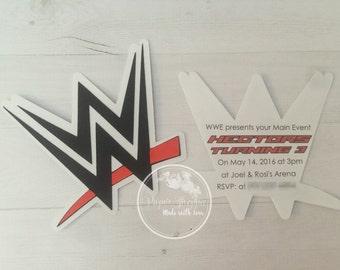 Wwe invites wrestling invitations birthday