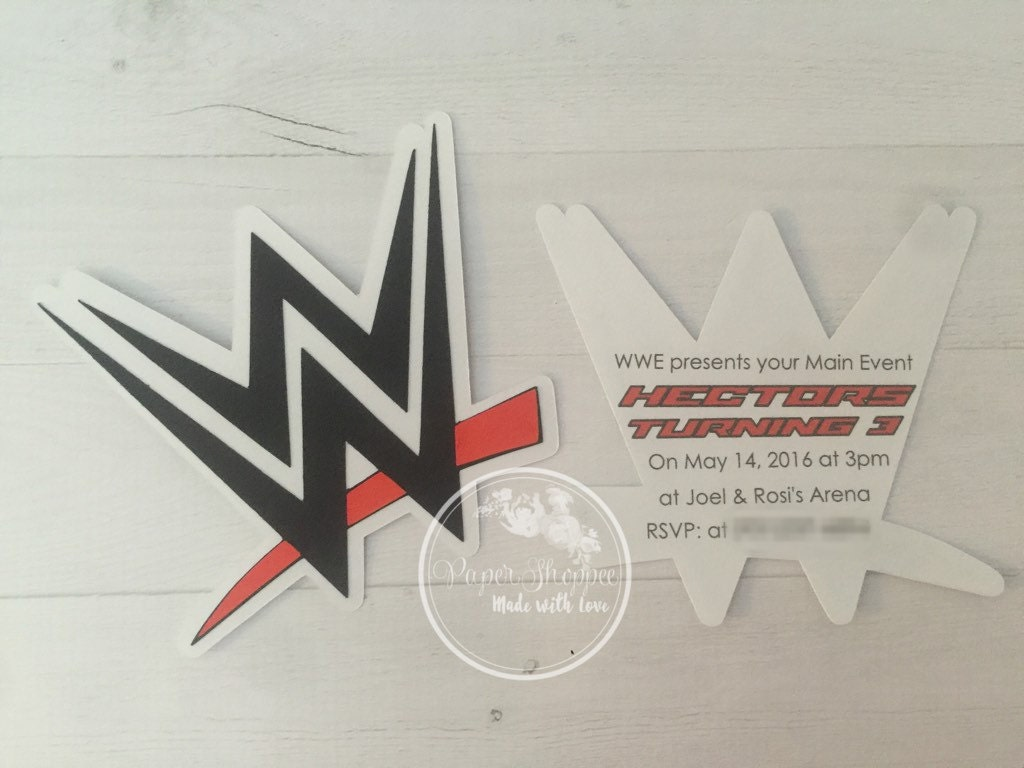 Wwe invites wrestling invitations birthday [E10261624441624210M ...