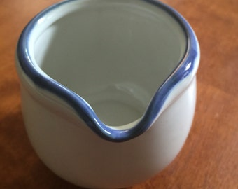crate and barrel creamer white and blue