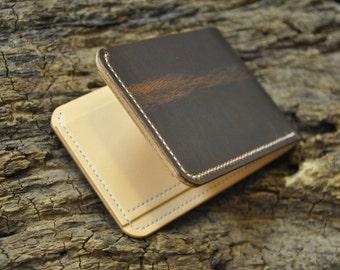 Leather Bifold Wallet Horween Dublin Brown