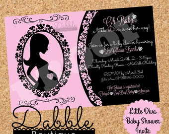Diva Baby Shower Invitation / Fashionista Baby Shower Invitation