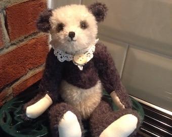 "Khol, a 9"" hand sewn mohair collector's bear"