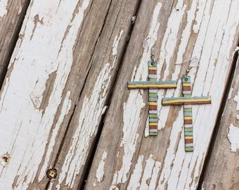 Southwestern Cross Earrings