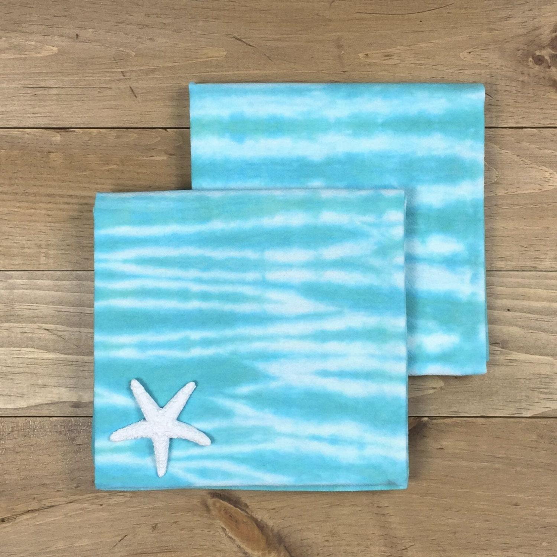 Turquoise Kitchen Towels: Turquoise Tea Towel Set 2 Turquoise Kitchen Towels Blue
