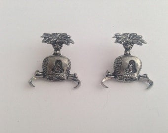 C5 Hood  Antiqued Fine English Pewter Cufflinks Handmade In Sheffield