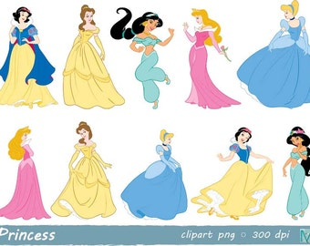 Disney Princess clip art images - instant download digital file - PNG