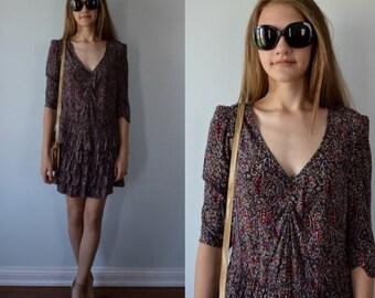 Vintage Dress, 1990s Dress, Sandro, Floral Dress, Casual Dress, Party Dress