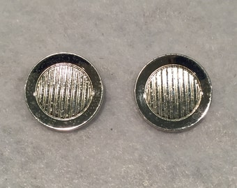 Shields Silver-tone Crown Cuff Links - CA 1960's - Item #14