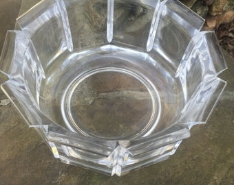 Lucite Round Cut Serving Bowl