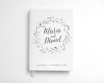Guestbook Wedding Planner  Wedding Journal Custom Guestbook Hardcover Guest Book Rustic Wedding Gift Rustic Personalized Guest Book Sign