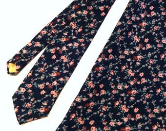 Floral Necktie and Pocket Square Set, Wedding Necktie, Man Necktie, Mens Necktie