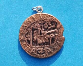1652 Spanish Philip IV Castle & Lion Colonial Caribbean Pirate Era Cob Coin Pendant