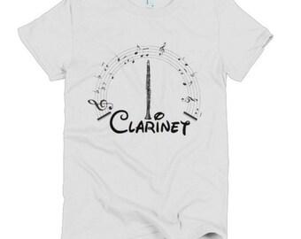 Clarinet Disney Font Music Short sleeve women's t-shirt