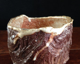 Wood fired Japanese winter teabowl