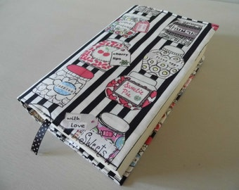 Sweets & Candy Handmade Fabric Book Cover