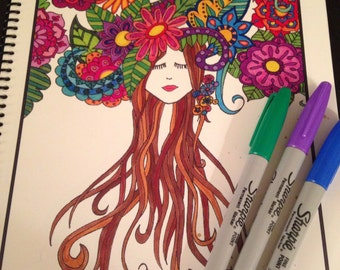 Mothers nature coloring book