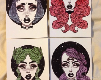 Space Babes Prints size SMALL
