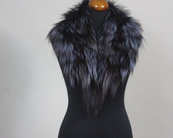 Luxury gift/Blue Fox Fur Collar  Women's/wedding or anniversary present