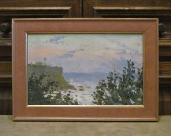 1975 Morning sea. Oil Painting.  Landscape. Original. Signed