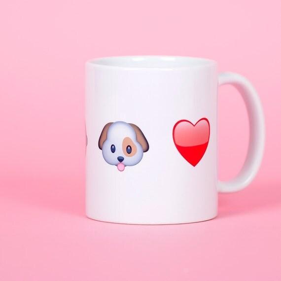 Customized emoji mug, personalise your mug with up to 5 large emojis - Funny mug - Rude mug - Mug cup 4P010