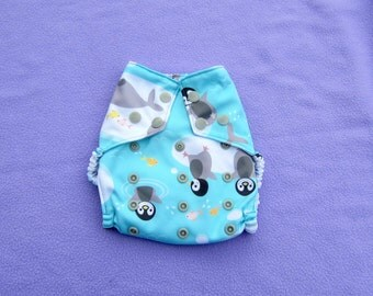 OS Baby Penguins Hidden PUL Cover or Pocket