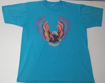 Vintage Neon Eagle Old Orchard Country Club tshirt size L 50/50
