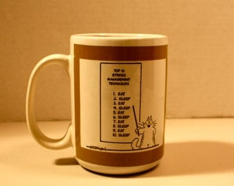 Glasberger coffee mug stress management eat sleep 12 ounce coffee mug cup humor gift