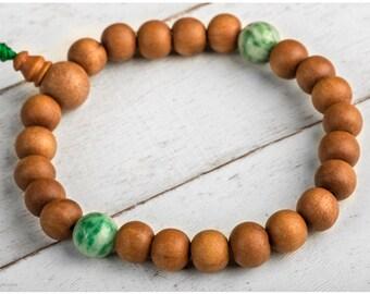 Sandalwod Bracelet, Sandalwood Mala Bracelet, Wrist Mala Bracelet, Wood Bracelet, Healing Bracelet, Yoga Bracelet, Buddhist bracelet