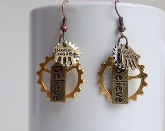 Unique steampunk earrings