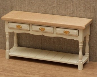 1:12 Scale Dolls House side / server table - Choice of 15 colours painted to order
