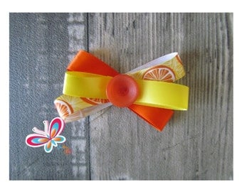 Clip hair lemon orange/yellow