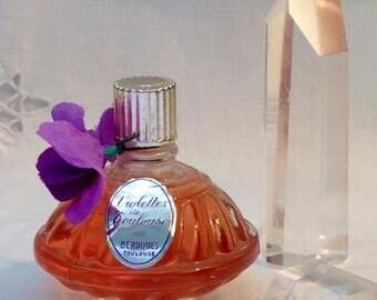 Berdoues, Violettes de Toulouse, 15 ml. 0.52 oz. Flacon, Pure Parfum Extrait, 1934, Toulouse, France ..