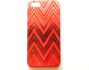 Red Chevron iPhone case, Red Phone Cover for iPhone 5/5S, 6, and 6 plus cases