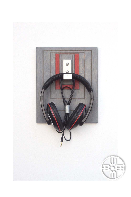 Headphone rack headphone holder wall mounted headphone - Wall mount headphone holder ...