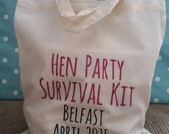 Hen Party Survival Kit Bag