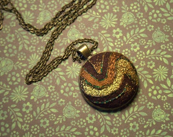 Hand Embroidered Pendant - Abstract