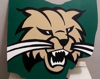 Ohio University Bobcats wall art sign