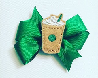 Starbucks Frappuccino inspired hair bow