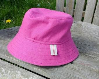 Linen Bucket Hat for kids