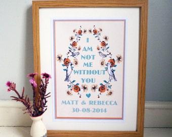 Personalised wedding/love/valentines print