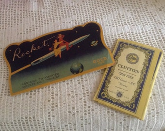 Vintage Sewing Needle and Pin Books