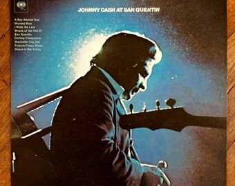 Original 1969 Johnny Cash at San Quentin Record; Johnny Cash Record