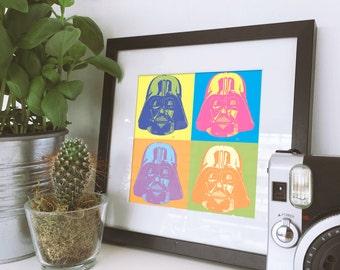 Vader Warhol, Wall Decor - Artwork- Painting - Illustration - Home Decor