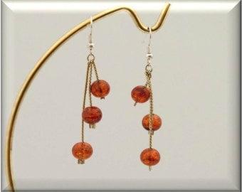 Amber Cascade Earrings