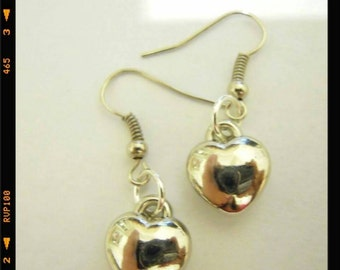 Handmade earrings heart