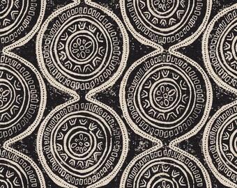 Gathered Bedskirt Atlas Geometric Granite Black