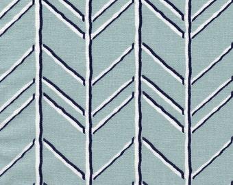 Tailored Valance Bogatell Spa Blue Geometric