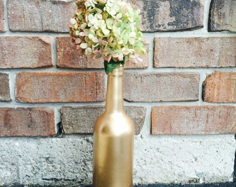 Metallic Painted Wine Bottles - Buy as 1, 3 or 4. Save when you buy more! Wine, Bottle, Pandecor
