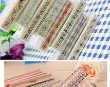 Border Stamp Rubber Roller Tin Set Vintage Lace Sticker Jewellry Cat Circus Fairy Ballet Bird Diary scrapbook wedding Invite Card Craft Box