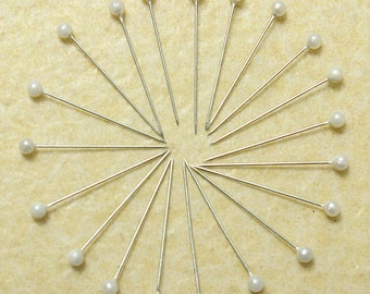 800Pcs White Round Pearl Head Pins Weddings Corsage Sewing Pin  ******** US SELLER with Fast Shipping